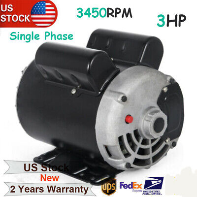 Electric Air Compressor Duty Motor 56 Frame 58 Shaft 1phase 3hp 3450rpm