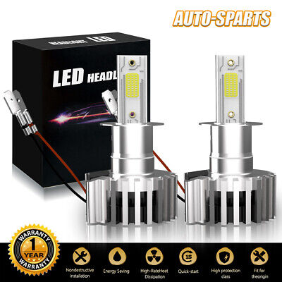 H3 HID LED Fog Light Bulb Conversion Kit Super Bright Canbus 6500K White (Best Projector For 200)