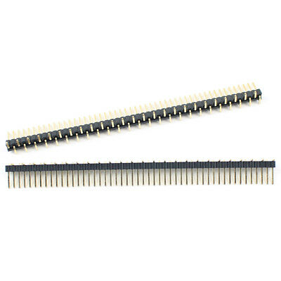 10pcs Gold Plated 1.27mm Pitch 50 Pin Male Single Row Smt Smd Pin Header Strip