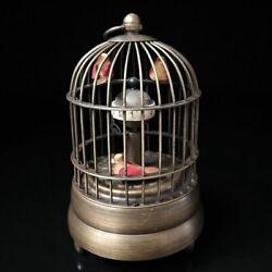 European Exquisite Brass Classical Mechanical Birdcage Clock