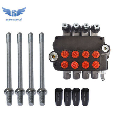 4 Spool Hydraulic Control Valve Double Acting 21 Gpm 3600 Psi Sae Ports