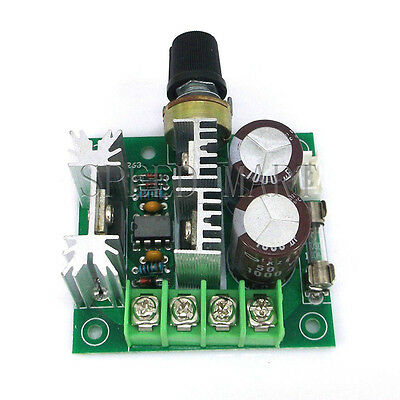 12v-40v 10a Governor Pwm Dc Motor Speed Control Switch Electronic Diy Kit New