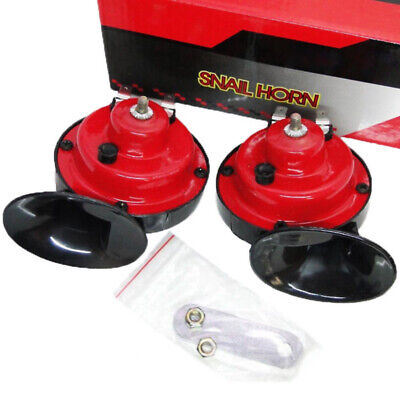 HUPE 2 KLANG HORN 12V universal AUTO, MOTORRAD | 410, 510HZ | für Kabelschuhe