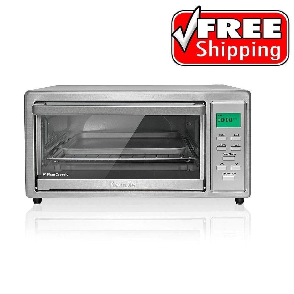 Kenmore 4 Slice Digital Toaster Oven Stainless Steel Broil B
