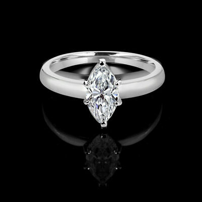 1.30Carat Marquise Cut Daimond Wedding Engagement Ring 14k Solid Real White Gold