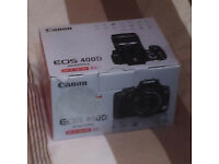 Used Mint Condition Canon EOS 400D 10.1MP Digital SLR Camera w/EF-S 18-55mm Zoom Lens Kit Black