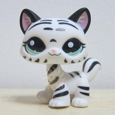 Hasbro Littlest Pet Shop Collection LPS Figure Loose White Black Rare Tiger Cat