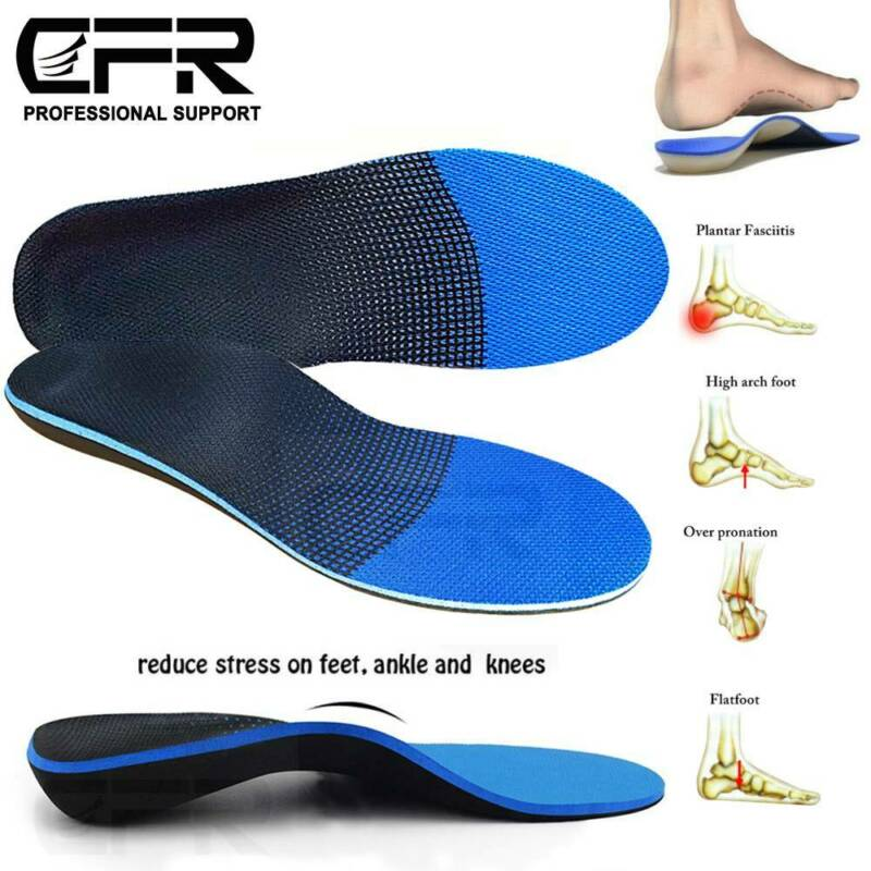 Orthotic Insoles Inserts CFR Plantar Fasciitis High Arch Sup