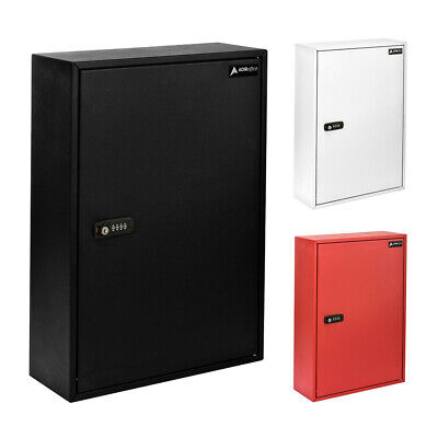 Adiroffice Steel 200 Key Storage Cabinet Secure Box Wcombination And Key Lock