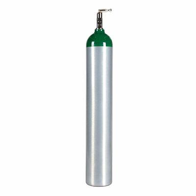 Medical E Aluminum Medical Oxygen Cylinder New 24.1 Cu Ft. - Cga870 Toggle Valve