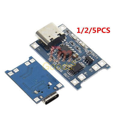 125pcs Type-c Usb 18650 Tc4056a Lithium Battery Charger Module Charging Board