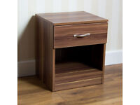 Riano Bedside table, 1 drawer walnut