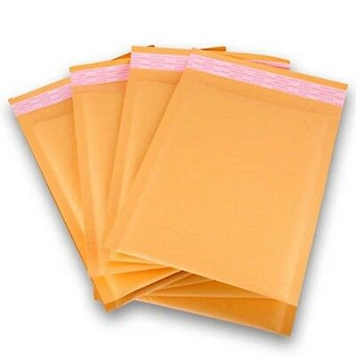 Polycyberusa 250 Pcs 0 Kraft Bubble Envelopes Mailers 6.5 X 10 Inner 6.5x9