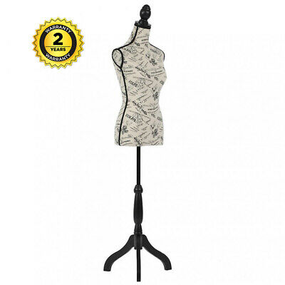 Adjustable Female Mannequin Torso Dress Form Body Display W Tripod Stand Black