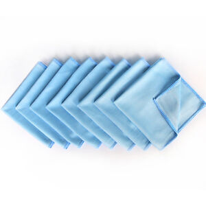 8 Pack Blue Microfiber Cleaning Glasses Cloth 12