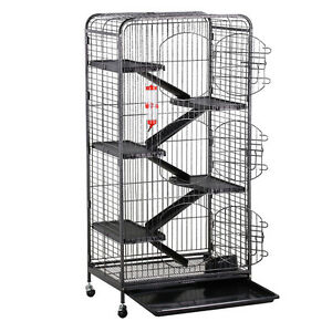 Ferret Cage with 3 Big Front Doors Rabbit Guinea Pig Chinchilla Rat House 52''