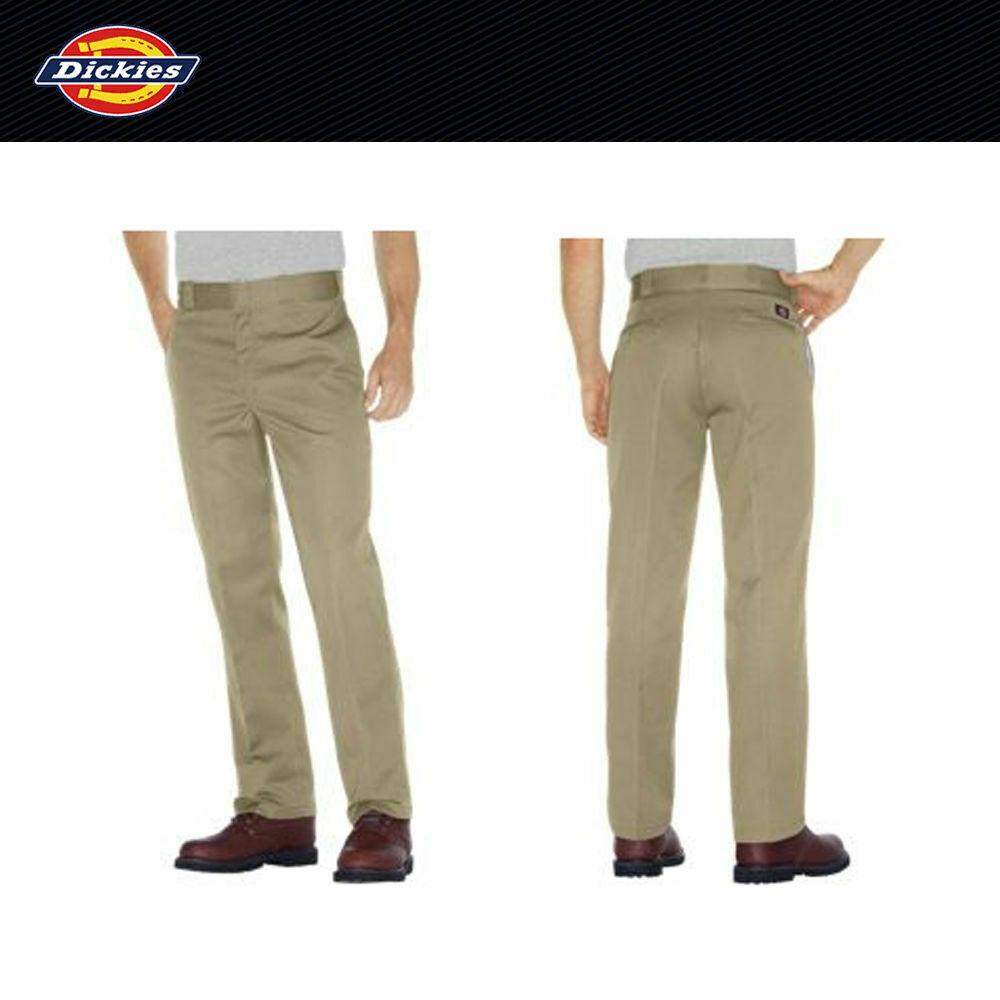 Dickies Men's #874 Original Fit Work Pants Military Khaki Si
