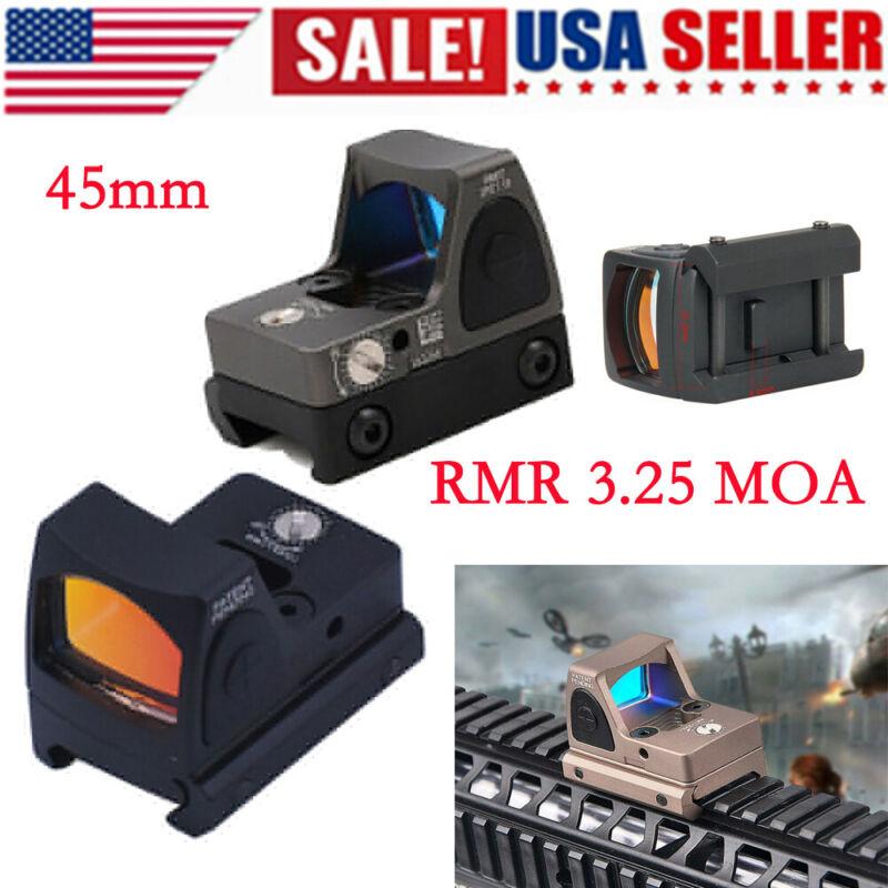MOA Red Dot Reflex Sight LED RMR 3.25 Glock Pistol Scope Hunt  Adjustable 45MMUS