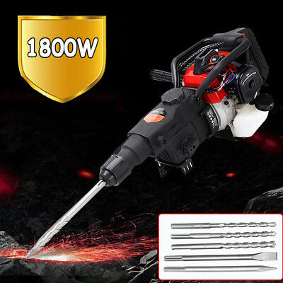 1800w Gasoline Demolition Jack Hammer Gas Breaker Jackhammer Punch Drill 32.7cc
