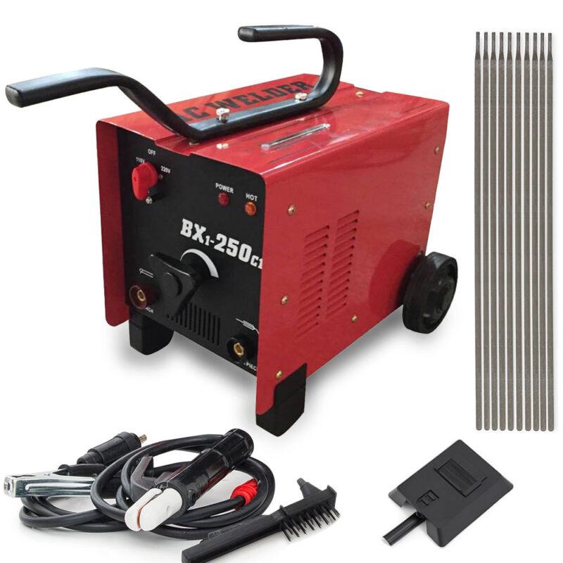 250 AMP AC Arc Welder Machine | 110/220 Dual Voltage Welding Accessories Set