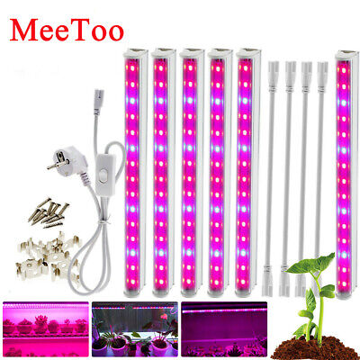 48 LED Grow Light Full Spectrum Hydro Veg Indoor Plant lamp T8 Tube Bulb Bar