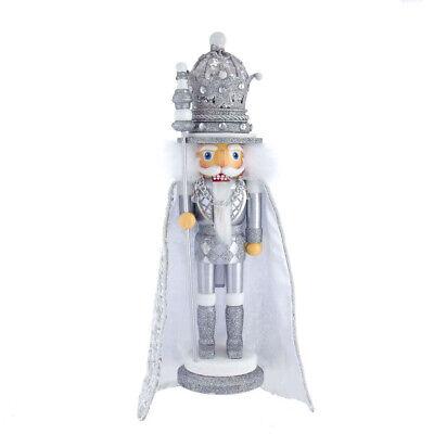 "[Kurt Adler Hollywood Nutcracker - Silver King Christmas Nutcracker 17.5"" HA0539 </Title]"
