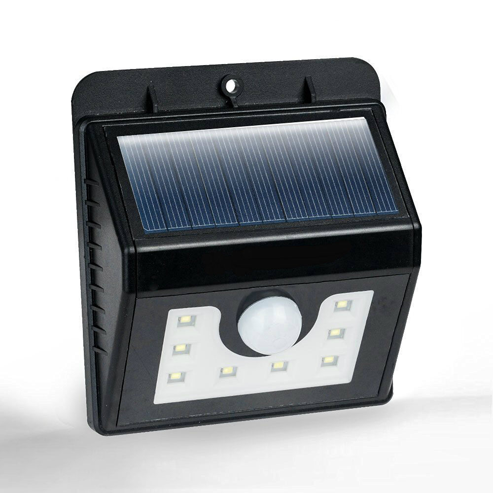 2x motion sensor bright white 8 smd solar powered outdoor. Black Bedroom Furniture Sets. Home Design Ideas