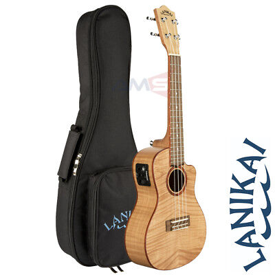 Lanikai FM-CEC Flame Maple Concert Acoustic Electric Ukulele with Fishman Pickup