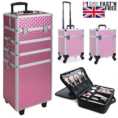 Pro Large Makeup Cosmetic Vanity Trolley Case Hairdressing Nails Beauty Box Bags