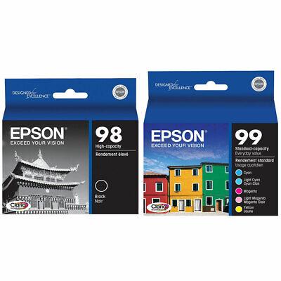 6 Pack Genuine Epson 98 99 Ink for Artisan 700 710 725 730 800 810 835 387 -