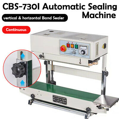 110v Auto Continuous Band Sealer Verticalhorizontal Bag Sealing Machine 6-15mm