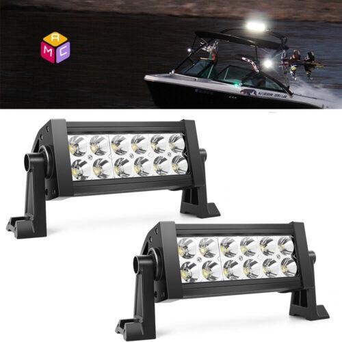 "6"" Inch LED Work Light Bar Waterproof Marine Boat Part Wellcraft Searay Bayliner"