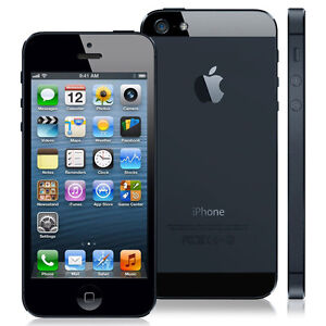 NEW SIM FREE FACTORY UNLOCKED APPLE iPHONE 5 16GB 4G LTE BLACK MOBILE PHONE