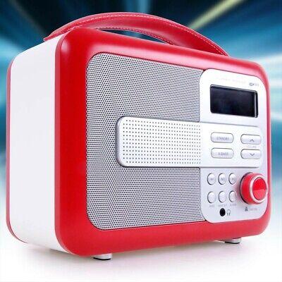 Antiguo Radio Planta Subwoofer Altavoz Reloj Despertador Cuero Iluminado Retro