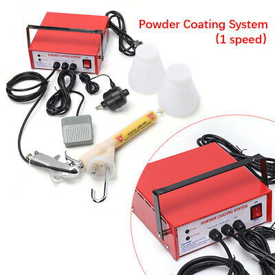 220v Electrostatic Spray Gun Portable Paint Gun Powder Coating System Fast Ship