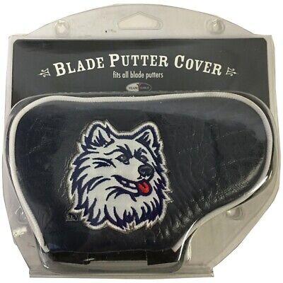 NEW Team Golf Blade Putter HeadCover NCAA University of Connecticut Huskies Blue