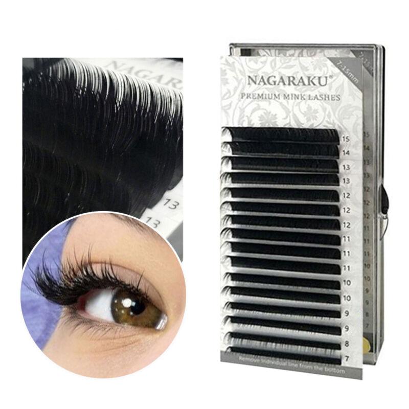 NAGARAKU Individual Faux Mink Eyelashes C,J,B,D Curl Full Si