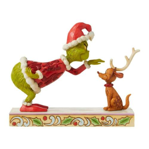 Jim Shore GRINCH BENDING OVER PETTING MAX Figurine DR. SEUSS 6008889 NEW 2021
