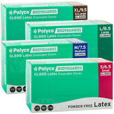 Bodyguard Latex Powder Free Disposable Gloves Box of 100