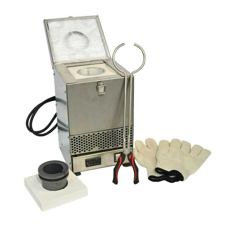 Electric Furnace Melting Pot for Gold Silver Jewelry Metal Aluminum