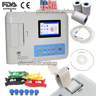 Usb Pc Software Electrocardiograph Digital 3 Channel 12 Lead Ecgekg Machine Fda