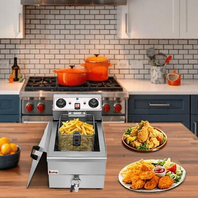 Zokop 12.5qt 11.8l Electric Countertop Deep Fryer Commercial Basket French Fry