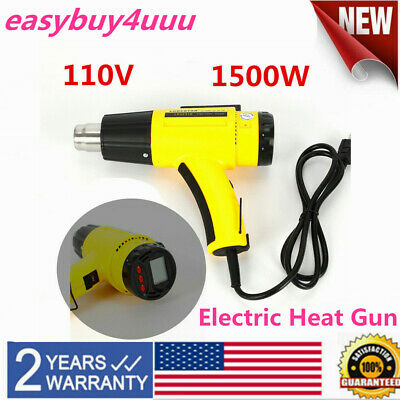 Heat Gun Heavy Duty Hot Air Gun Variable Temperature Control 1500w Lcd Display