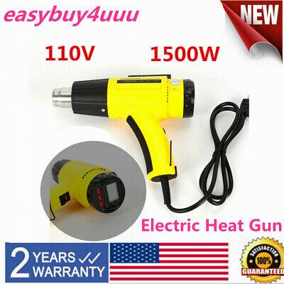 Lcd Display 1.5kw Heat Gun Hot Air Guns Diy Electric Nozzles Pvc Shaping Drying