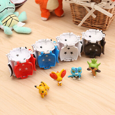 4Pcs Creative Pokemon Pikachu Pokeball Cosplay Pop-up Poke Ball Kids Toy Gift