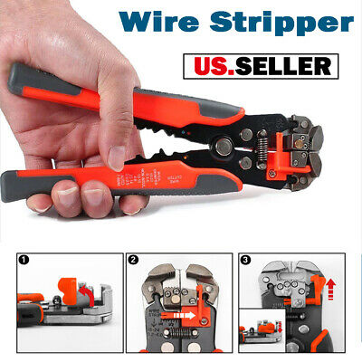 3in1 Auto Self-adjusting Wire Stripper Cutter Cable Crimper Pliers Terminal Tool