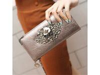 Metal Skull Pattern PU Leather purse