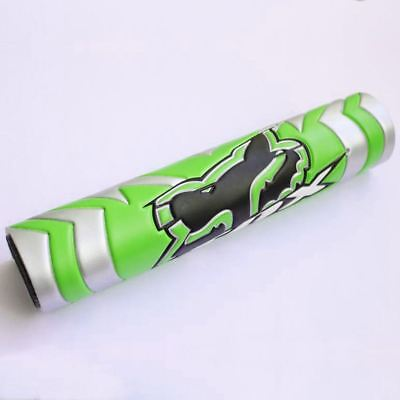 New Green Dense Foam Crossbar Handlebar Protector Pad w/ Black Logo 9.44in