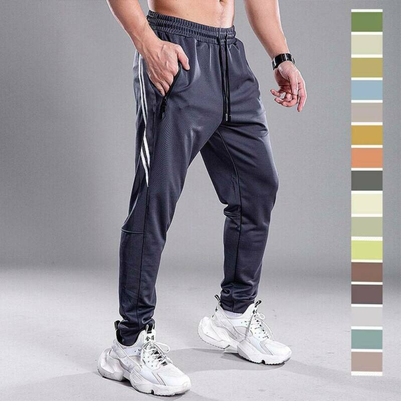 Men's Athletic Workout Track Pants Casual Gym Running Joggin