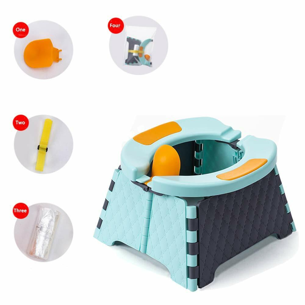 Baby Potty Training Seat Kids Toddler Outdoor Portable Foldi